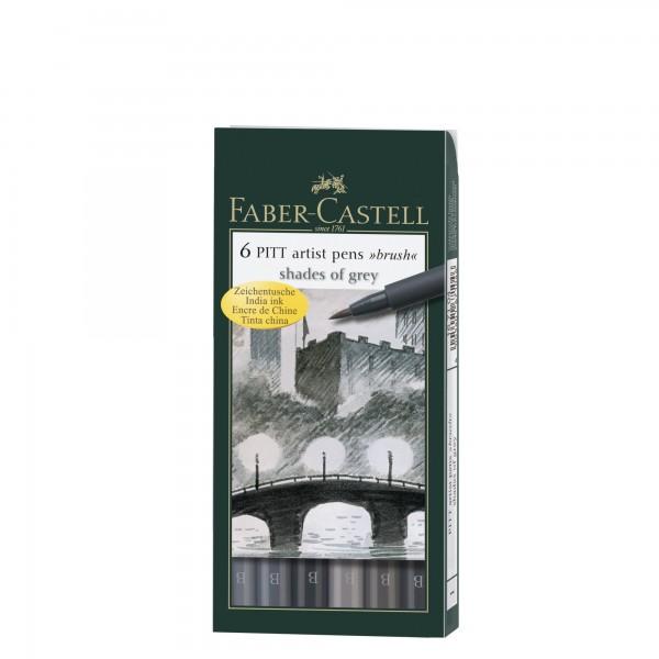 Tuschestifte 6er Set | Pitt Artist Pen | Faber Castell