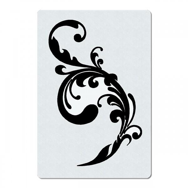 Swirl Ranke #03 | Blumen Airbrush Schablone A5