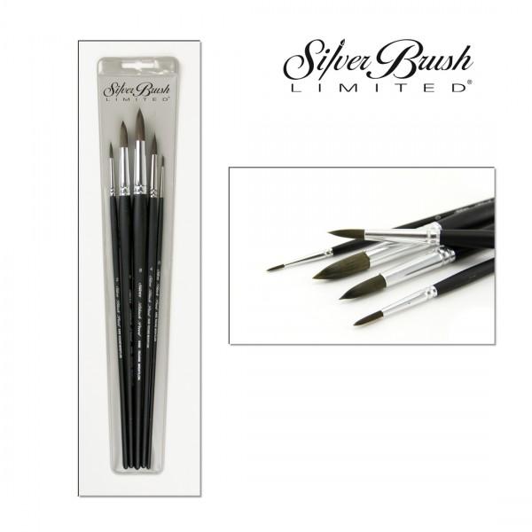 Black Pearl Mightlon   5er Acrylpinsel Set   Langstiel-Image