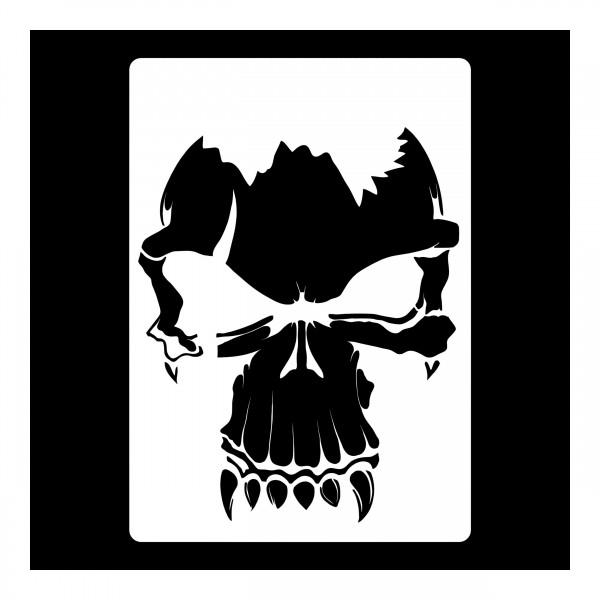 Skull #14   Airbrush Schablone Totenkopf   ca. 20 x 14cm