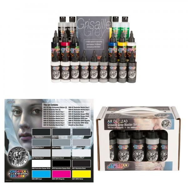 Air, Oil, Lead Grisaille Grey Box Set | Illustration Color
