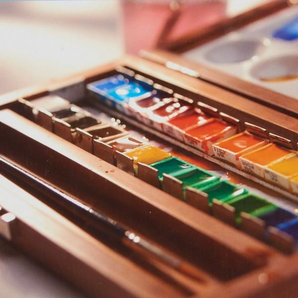 van Gogh Aquarellfarben   Holzkasten Auswahl
