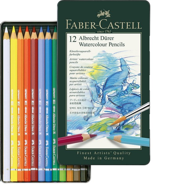 Aquarell Stifte im Metalletui | Albrecht Dürer Farbstifte | Faber Castell