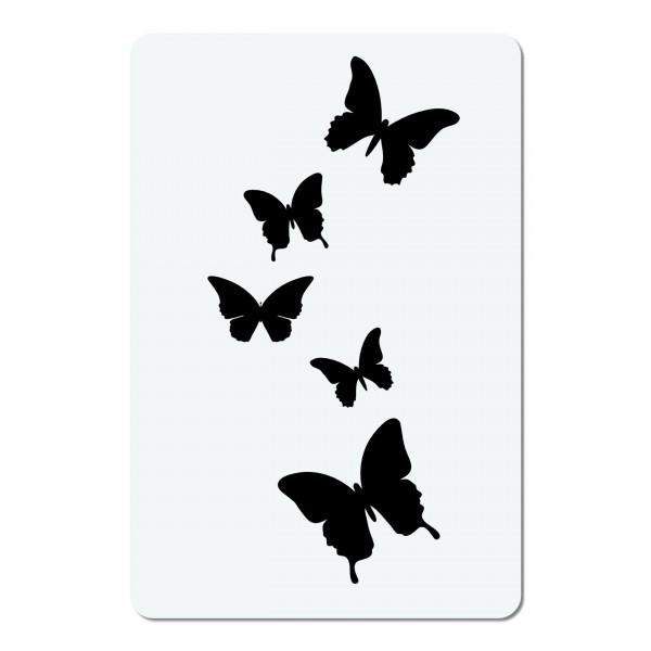 Schmetterlinge   mini #026 Airbrush Schablone A6
