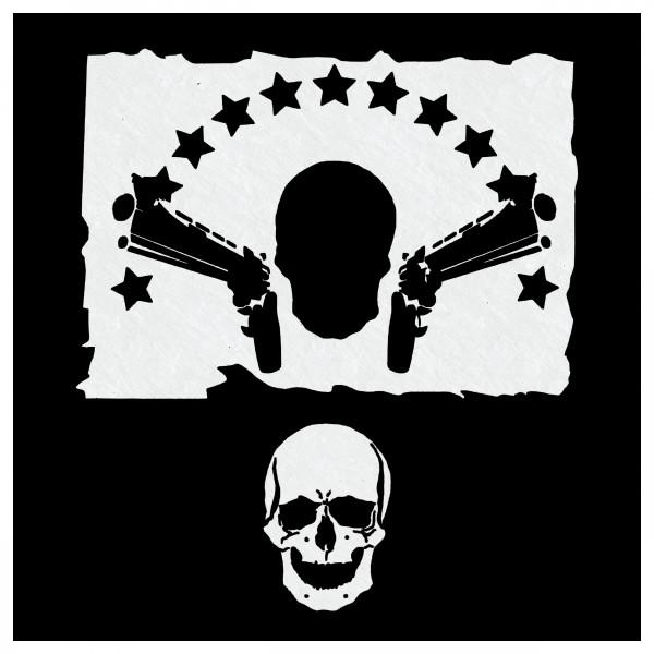 GANGSTA Skull | Airbrush Schablone Totenkopf