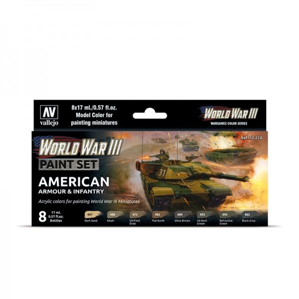 American Armour & Infantry | Vallejo WW III Model Color Farben Set