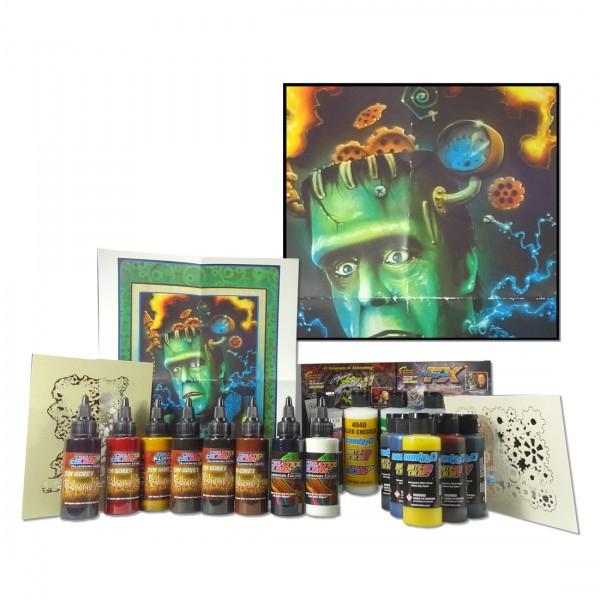 Frankensteam Box Set | Createx Airbrushfarben-Image