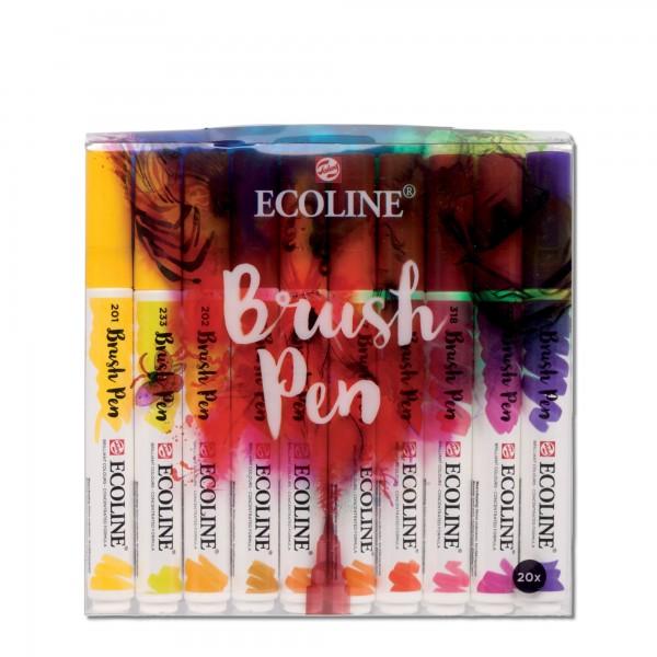Ecoline Brushpen | 20er Farbset