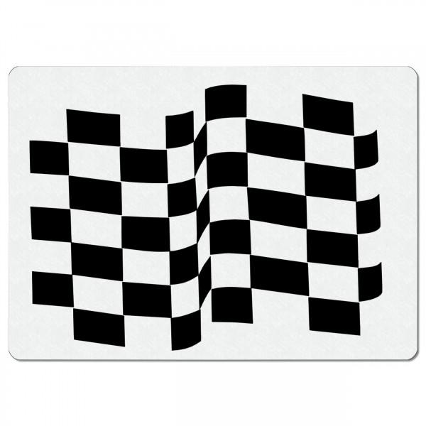 Ziel Flagge | Airbrush Schablonen A5