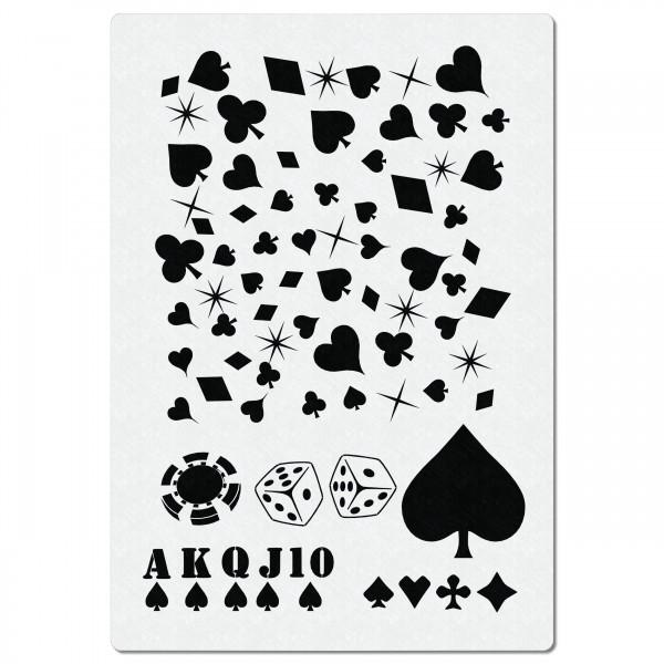 Casino Spiel Karten | Airbrush Schablone ca 20cm x 14cm