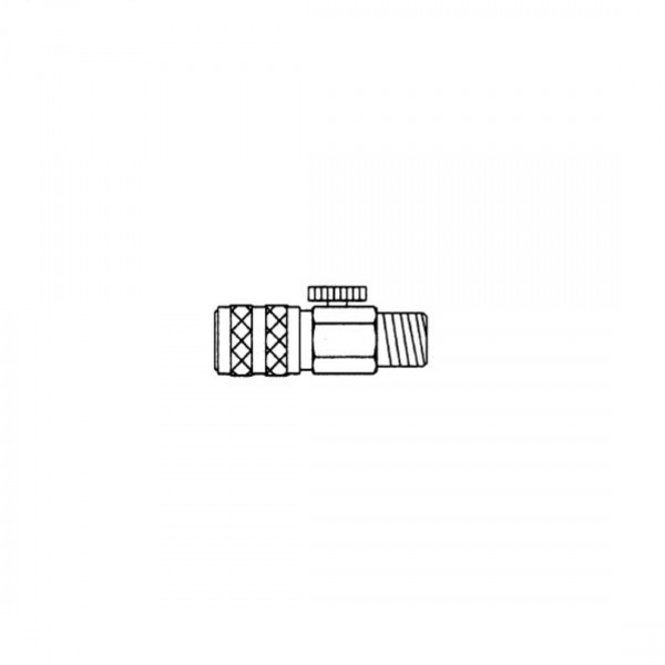 Schnellkupplung NW 2,7 mit Lufregulierung-Image