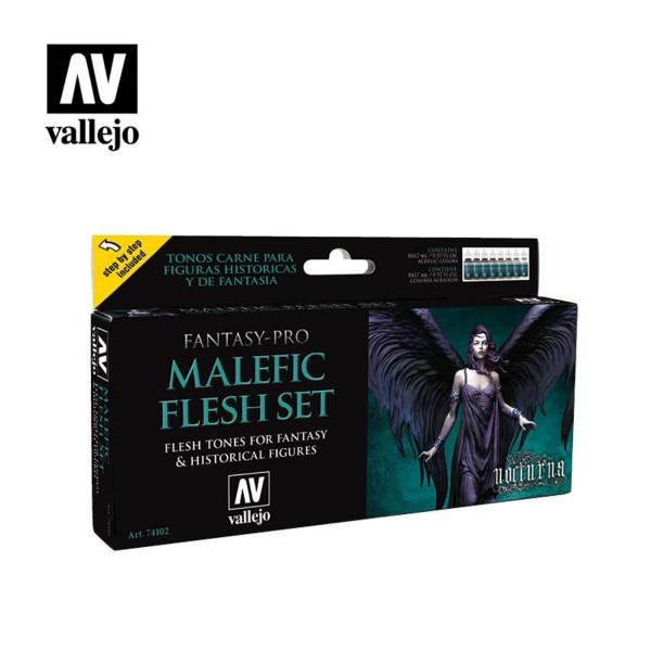 Malefic Flesh | Vallejo Fantasy Pro Nocturna Set