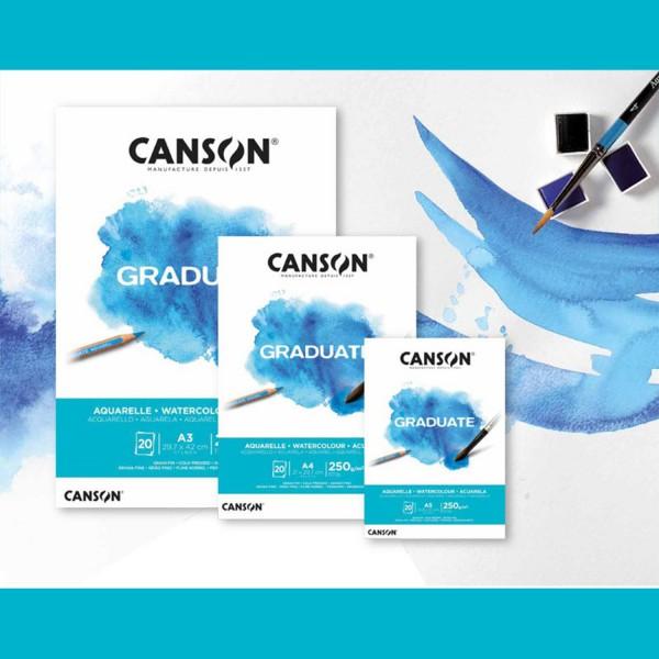 Aquarellpapier 250g/m² | Graduate Serie by Canson