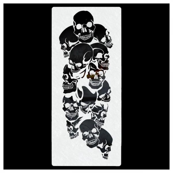 Piles of Skulls #017   Totenköpfe Airbrush Schablone   ca. 13 cm x 29 cm
