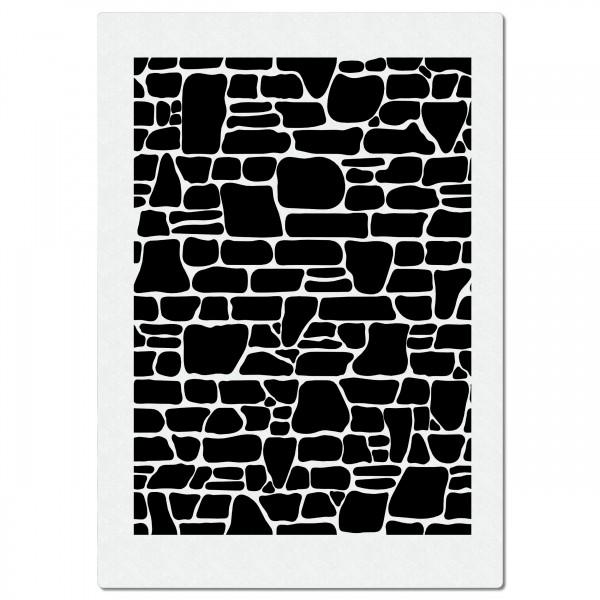 Ziegelsteine #2   Airbrush Schablone A4