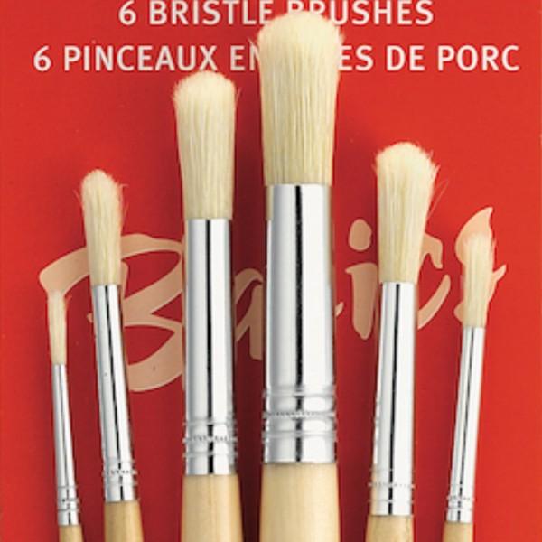 Round Bristle Brush | 6 pcs Set