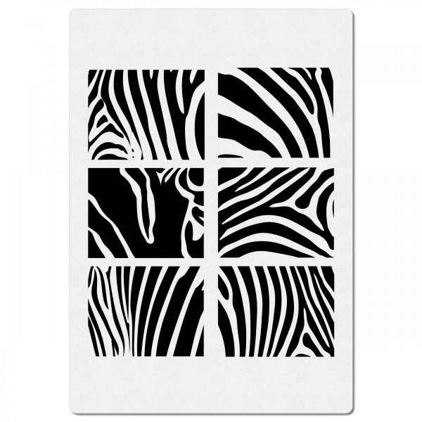 Zebra Fellmuster #3 | Struktur Airbrush Schablone ca. A4