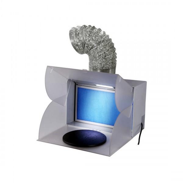 SpritzBox Absaugung mit Drehteller & LED-Licht-Image