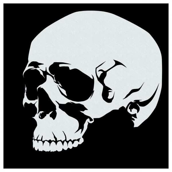 Skull #09 | Totenkopf Airbrush Schablone ca. A5