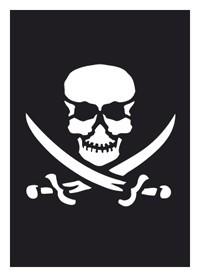 Tattoo Schablone | selbstklebend | Pirat-Image