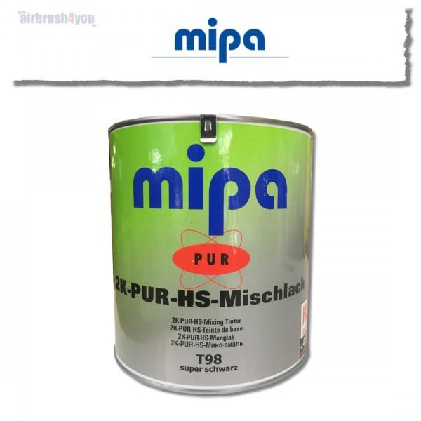 Glänzender Autolack | mipa 2K-PUR HS super schwarz T98-Image