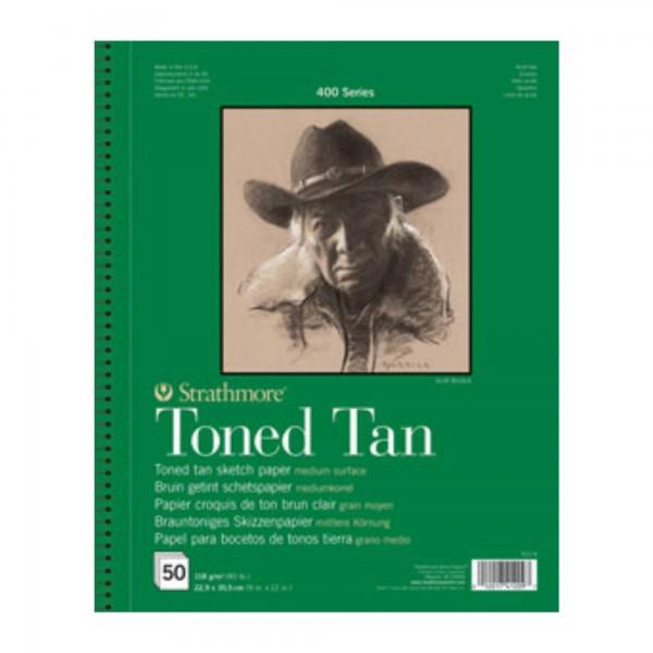Toned Tan Skizzenpapier   Strathmore Artist Paper 400   118gr