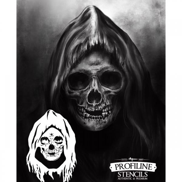 Sensenmann, der Tod | Airbrush Schablone Grim Reaper | A4