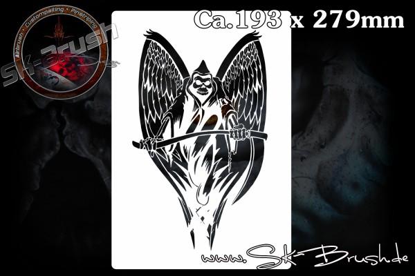 Sensenmann - Grim Reaper Profi Airbrush Schablone