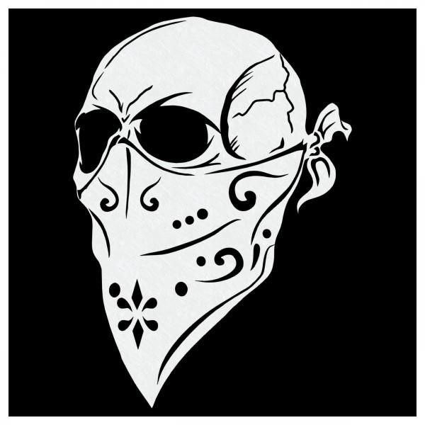 """Gangsta Skull""   Totenkopf Airbrush Schablone ca. A4"