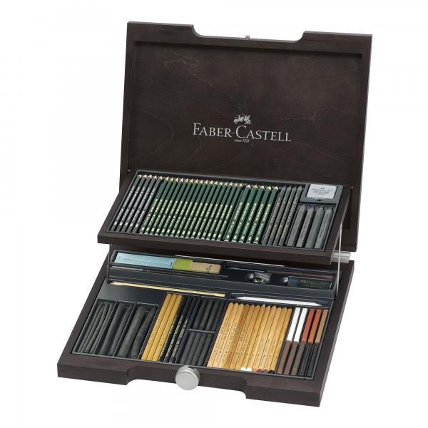 PITT Monochrome Holzkoffer | Faber Castell
