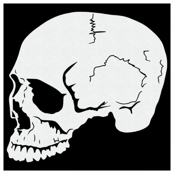 Skull #01| Totenkopf Airbrush Schablone | ca.12x 10cm