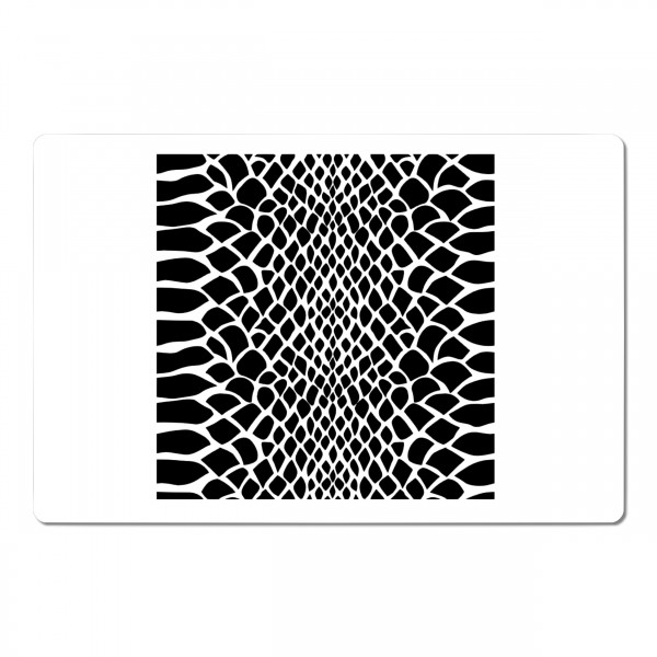 Schlangenhaut | Struktur Airbrush Schablone | 20 x 13 cm