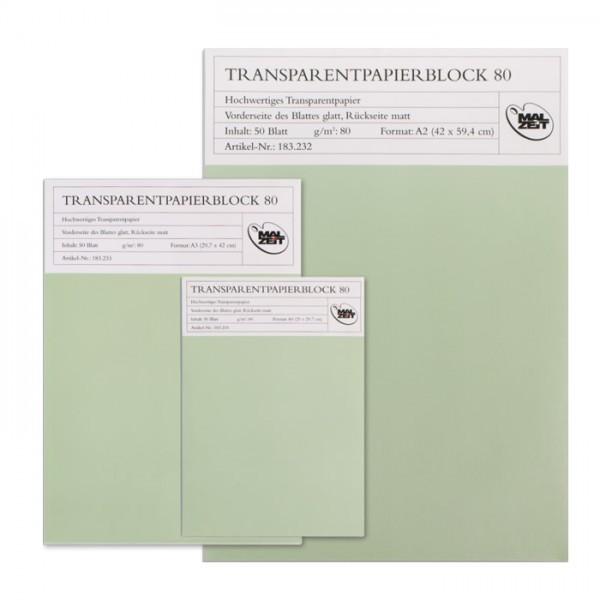 Transparentpapier Block | 50Blatt | 80gr. | DIN A2-Image