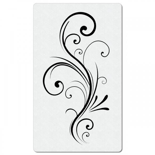 Swirl Ranke #07 | Blumen Airbrush Schablone 12 x 20 cm