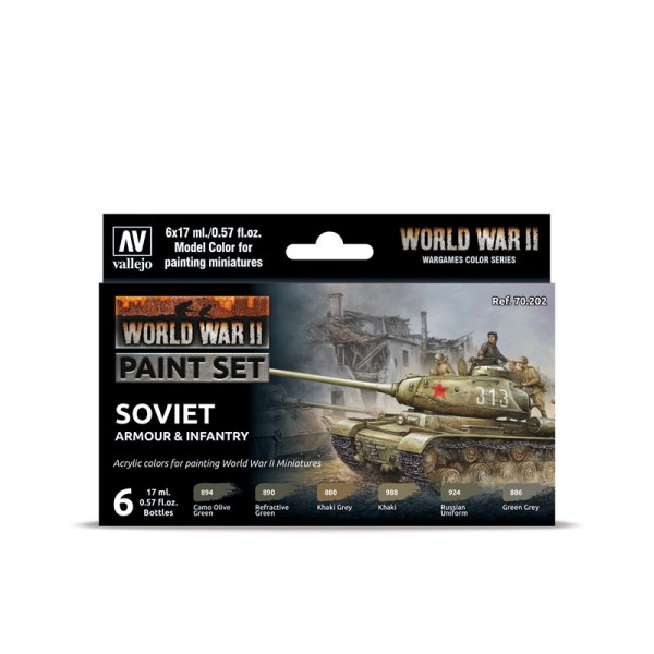 Soviet Armour & Infantry | Vallejo WW II Farben Set
