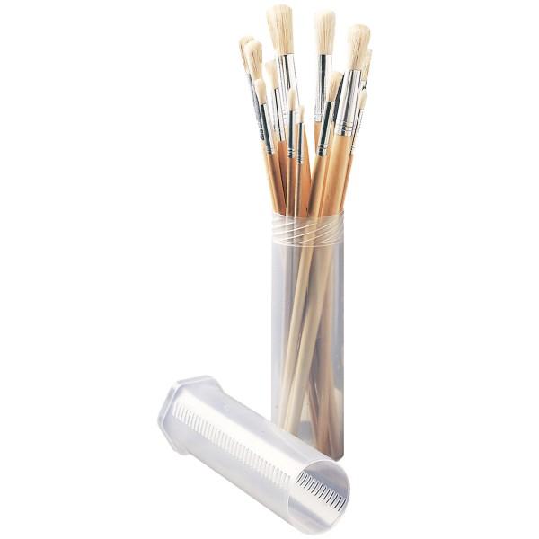 Round Bristle Brush | 12pcs Set with Tube