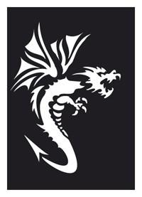 Tattoo Schablone | selbstklebend | Dragon 2-Image