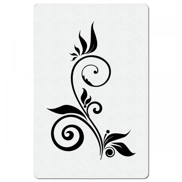 Swirl Ranke #04 | Blumen Airbrush Schablone 20 x13 cm