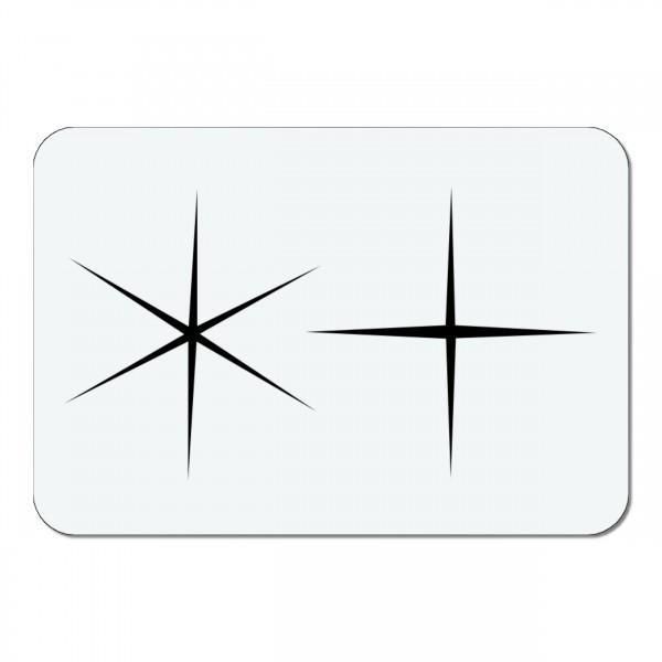 Sterne #44 | Mini Airbrush Schablone Stars | ca. 7 x 5 cm
