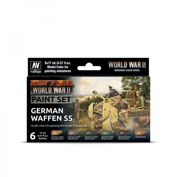 German Waffen SS | Vallejo WW II Model Color Farben Set