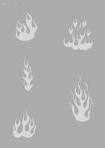 Createx Stencil | Mylar Universal | Flammen I-Image