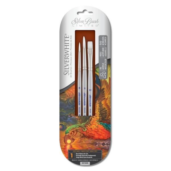 Silverwhite | 3er Basic Pinsel Set
