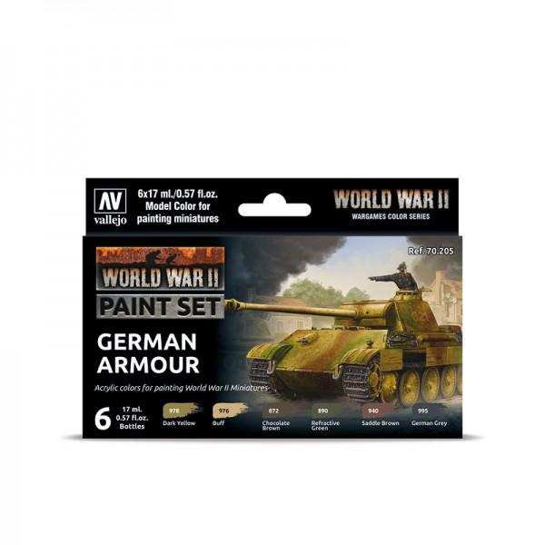 German Armour | Vallejo WW II Model Color Farben Set