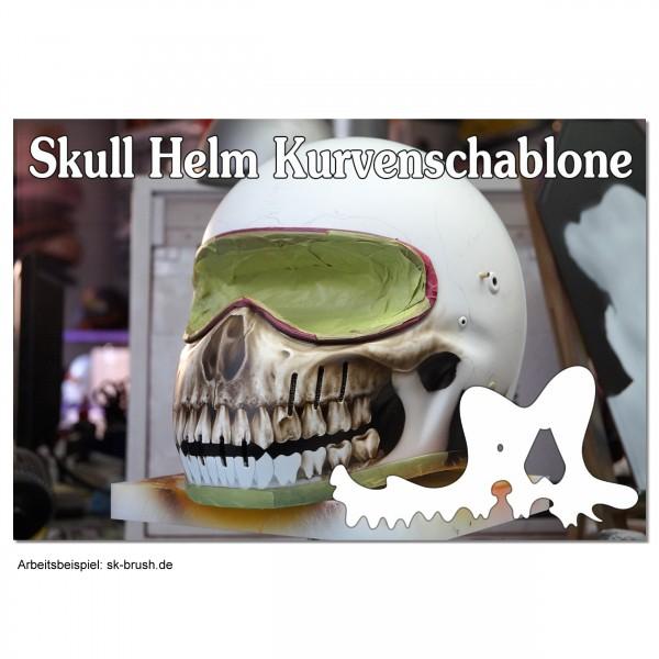 Skull Kurven Zähne Schablone für perfekten Skull Helm