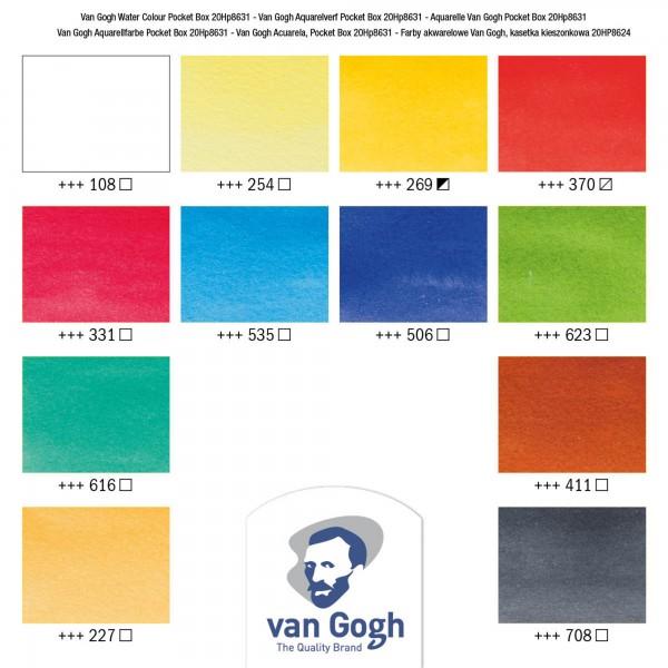 van Gogh Aquarellfarben   Pocket Box Auswahl