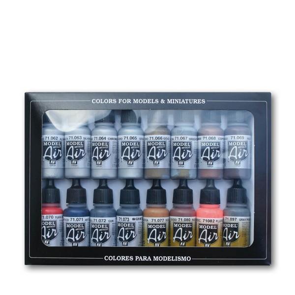 Vallejo Model Air | 16er Set | Metallic