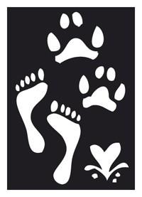 Tattoo Schablone | selbstklebend | Fußabdrücke-Image