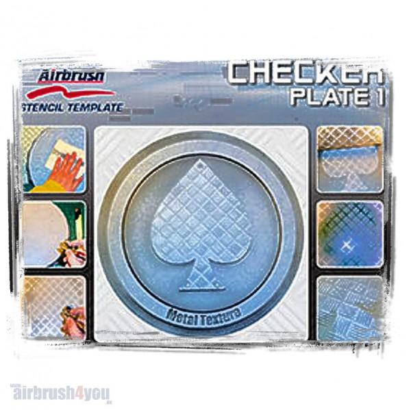 H & S Stencil | Checker Plate 1-Image