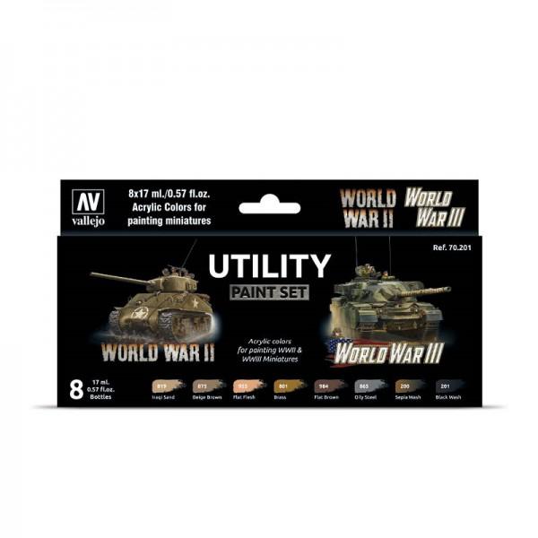 Utility WW II & WW III | Vallejo Model Color Farben Set