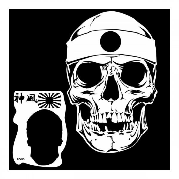 """Kamikaze Skull"" | Totenkopf Airbrush Schablone ca. A4"